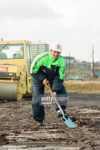 Middlesbrough Football Club. Commencement of building new stadium, Friday 28th October 1994. Bryan Robson, Player manager Middlesbrough FC.