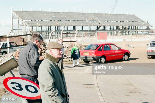 Middlesbrough Football Club. Middlehaven site of construction of new stadium, by the River Tees, 1995.