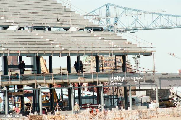 Middlesbrough Football Club Middlehaven site of construction of new stadium by the River Tees 1995