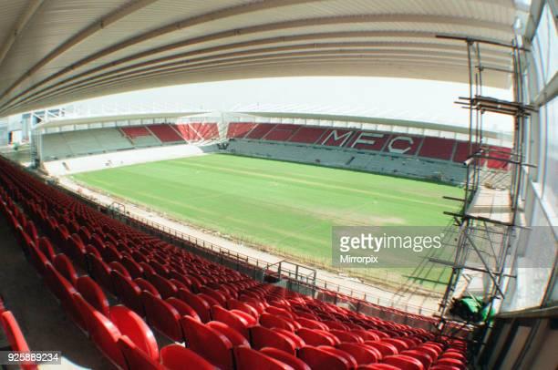 Middlesbrough Football Club, new Riverside Stadium under constriction, Circa 1995.