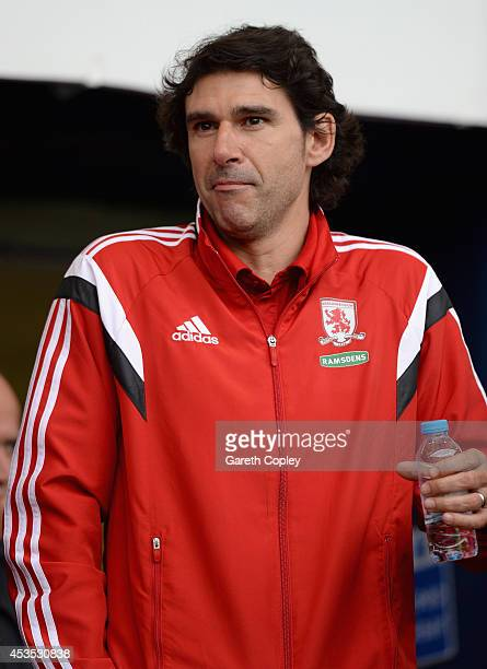 Middlesbrough manager Aitor Karanka during the Capital One Cup First Round match between Oldham Athletic and Middlesbrough at Boundary Park on August...
