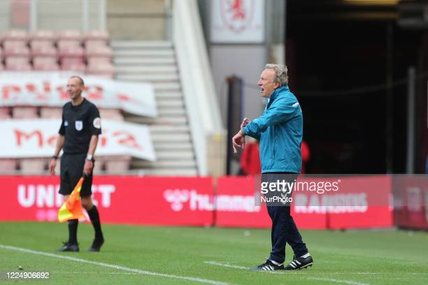 Middlesbrough manager, Neil Warnock during the Sky Bet Championship match between Middlesbrough and Queens Park Rangers at the Riverside Stadium,...