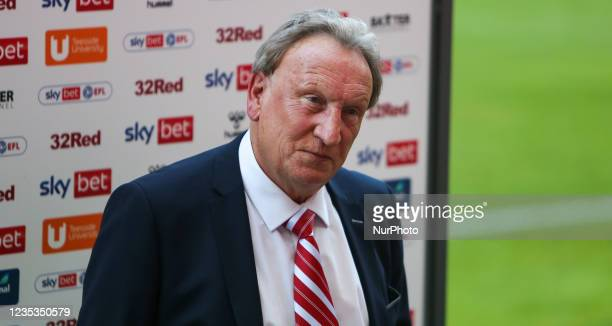 Middlesbrough Manager Neil Warnock during the Sky Bet Championship match between Middlesbrough and Blackpool at the Riverside Stadium, Middlesbrough...