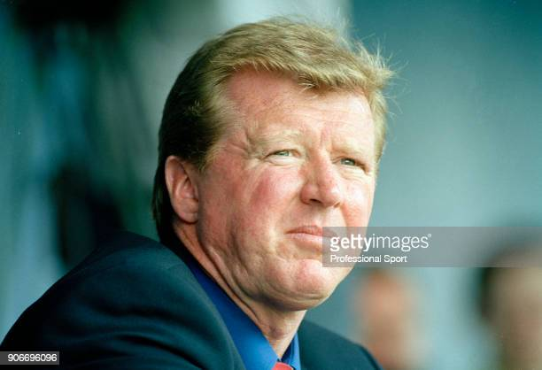 Middlesbrough manager Steve McClaren looks on during a Preseason Friendly between Mansfield Town and Middlesbrough at Field Mill on July 28 2001 in...