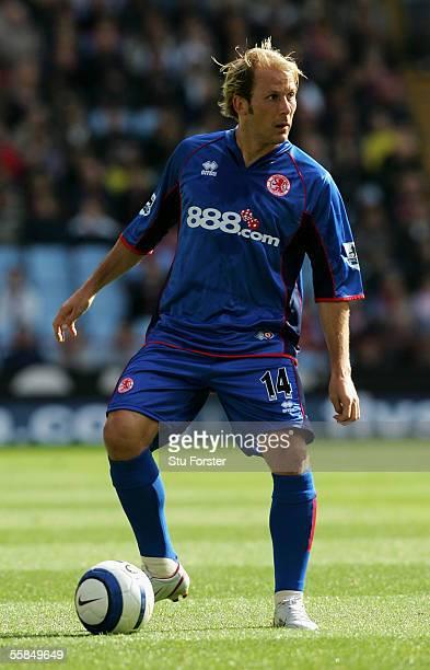 Middlesbrough midfielder Gaizka Mendieta on the ball during the Barclays Premiership match between Aston Villa and Middlesbrough at Villa Park on...