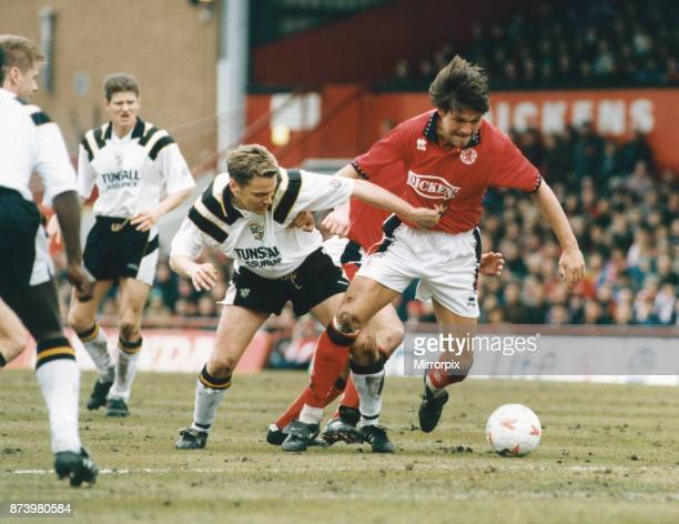 Middlesbrough player Uwe Fuchs seen here in action against Port Vale 26th March 1995