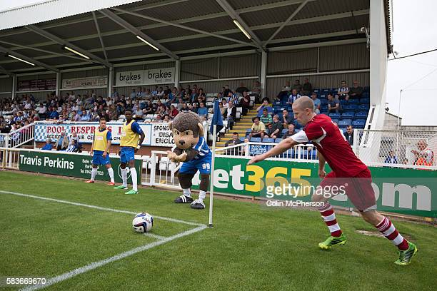 Middlesbrough winger Grant Leadbitter prepares to take a corner at the Victoria Ground Hartlepool during a preseason friendly between his team and...