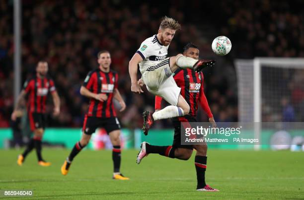 Middlesbrough's Adam Clayton and AFC Bournemouth's Lys Mousset battle for the ball during the Carabao Cup Fourth Round match at the Vitality Stadium...