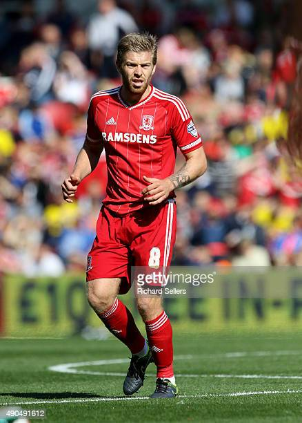 Middlesbrough's Adam Clayton in action during the Sky Bet Championship match between Middlesbrough and Leeds United at the Riverside on September 27...