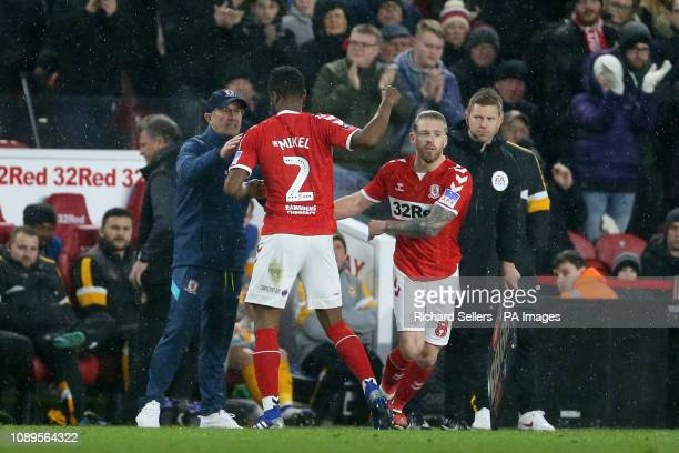Middlesbrough's Adam Clayton on for Middlesbrough's John Obi Mikel during the FA Cup fourth round match at Riverside Stadium Middlesbrough