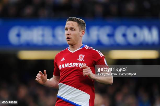 Middlesbrough's Adam Forshaw during the Premier League match between Chelsea and Middlesbrough at Stamford Bridge on May 8 2017 in London England