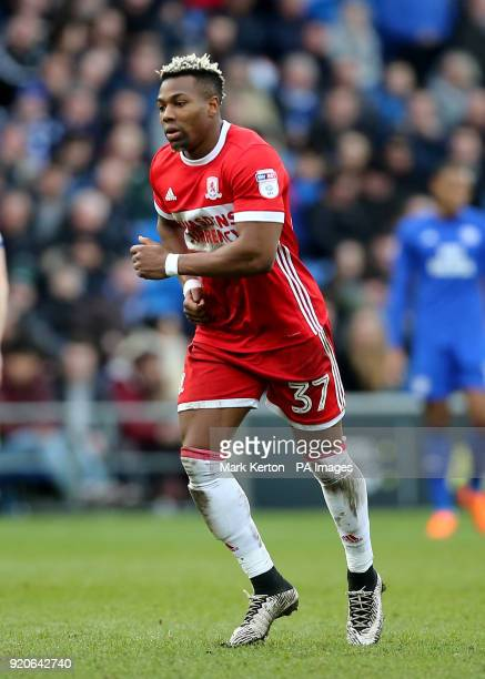 Middlesbrough's Adama Traore during the Sky Bet Championship match at The Cardiff City Stadium
