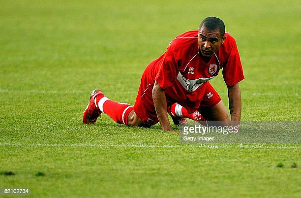Middlesbrough's Afonso Alves during the pre season friendly match between Carlisle United and Middlesbrough on July 29 2008 in Carlisle England