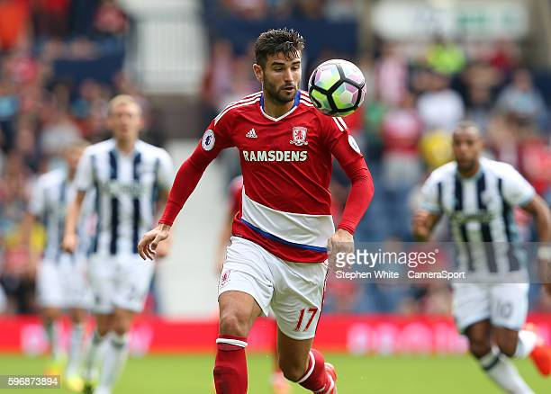 Middlesbrough's Antonio Barragan during the Premier League match between West Bromwich Albion and Middlesbrough at The Hawthorns on August 28 2016 in...