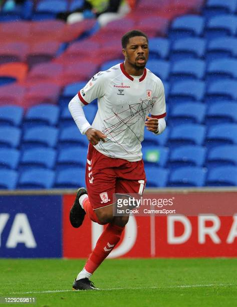 Middlesbrough's Chuba Akpom during the Sky Bet Championship match between Cardiff City and Middlesbrough at Cardiff City Stadium on October 24 2020...