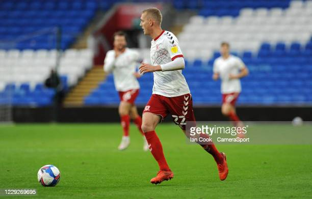 Middlesbrough's George Saville during the Sky Bet Championship match between Cardiff City and Middlesbrough at Cardiff City Stadium on October 24...