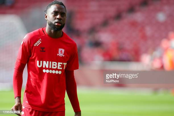 Middlesbrough's James Léa Siliki during the Sky Bet Championship match between Middlesbrough and Blackpool at the Riverside Stadium, Middlesbrough on...