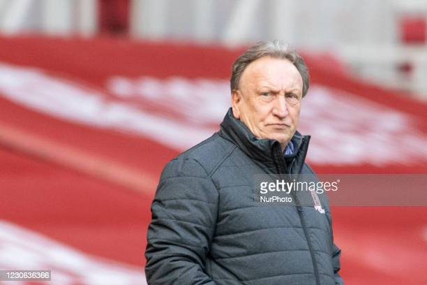 Middlesbrough's manager Neil Warnock during the Sky Bet Championship match between Middlesbrough and Birmingham City at the Riverside Stadium,...