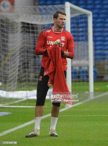 Middlesbrough's Marcus Bettinelli during the prematch warmup during the Sky Bet Championship match between Cardiff City and Middlesbrough at Cardiff...
