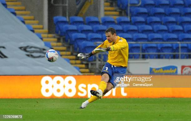 Middlesbrough's Marcus Bettinelli during the Sky Bet Championship match between Cardiff City and Middlesbrough at Cardiff City Stadium on October 24...