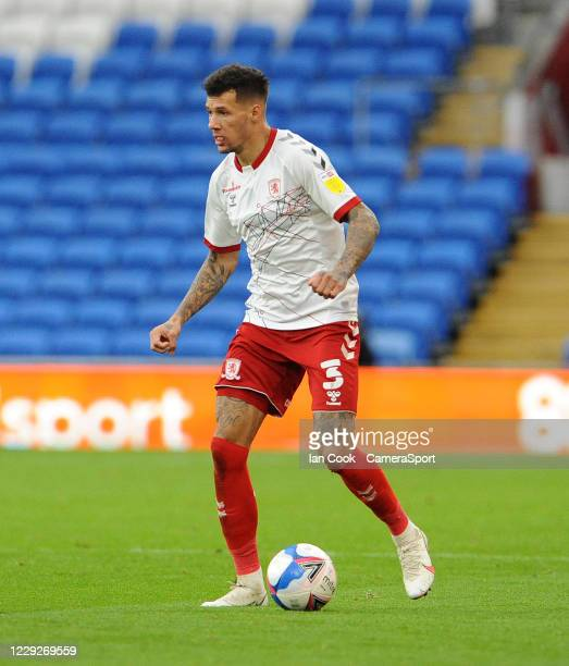 Middlesbrough's Marvin Johnson during the Sky Bet Championship match between Cardiff City and Middlesbrough at Cardiff City Stadium on October 24...
