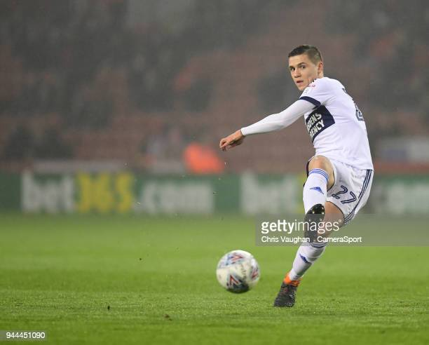 Middlesbrough's Muhamed Besic during the Sky Bet Championship match between Sheffield United and Middlesbrough at Bramall Lane on April 10 2018 in...