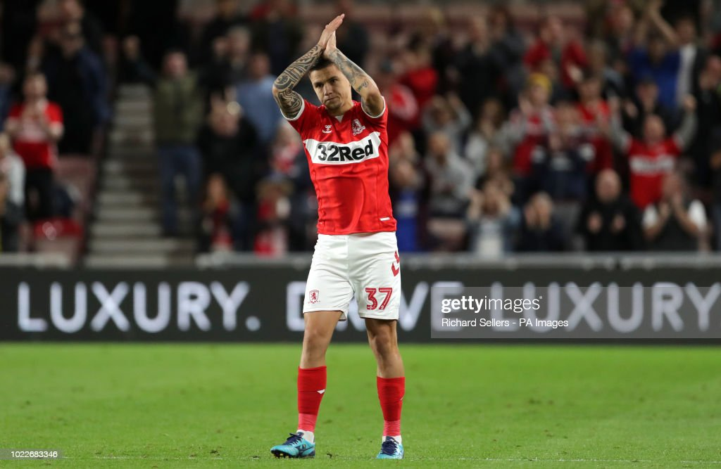 Middlesbrough's Muhamed Besic Reacts As He Is Substituted