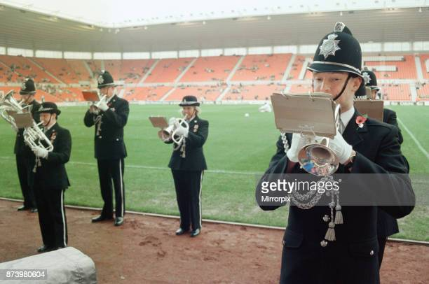 Middlesbrough's official opening of their new Riverside Stadium in a friendly against Italian side Sampdoria. Brass Band playing at the Riverside...