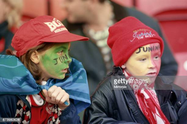 Middlesbrough's official opening of their new Riverside Stadium in a friendly against Italian side Sampdoria. Young fans at the friendly match...