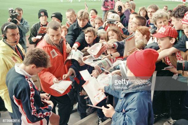 Middlesbrough's official opening of their new Riverside Stadium in a friendly against Italian side Sampdoria Middlesbrough player Juninho signing...