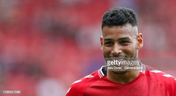 Middlesbrough's Onel Hernandez during the Sky Bet Championship match between Middlesbrough and Blackpool at Riverside Stadium on September 18, 2021...