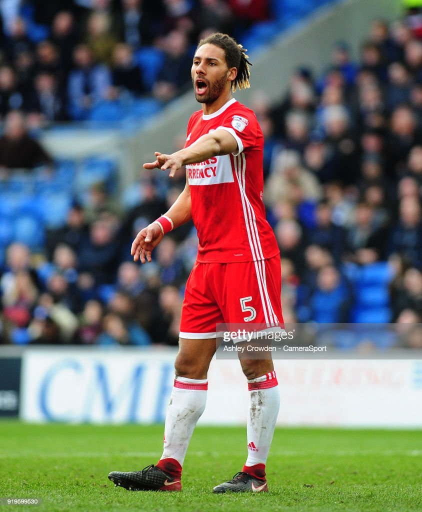 Middlesbrough's Ryan Shotton during the Sky Bet Championship match between Cardiff City and Middlesbrough at Cardiff City Stadium on February 17, 2018 in Cardiff, Wales.