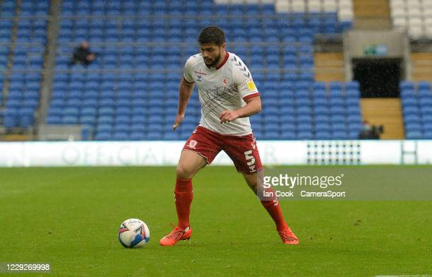 Middlesbrough's Sam Morsy during the Sky Bet Championship match between Cardiff City and Middlesbrough at Cardiff City Stadium on October 24 2020 in...