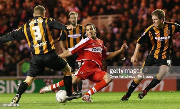 Middlesbrough's Seb Hines scores during the FA Cup third round replay against Hull City at The Riverside Stadium, Middlesbrough.