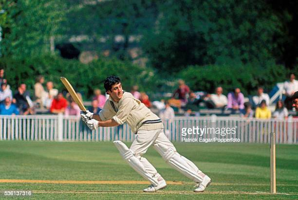 Middlesex captain Mike Brearley batting during the John Player League match between Worcestershire and Middlesex at Worcester 2nd May 1971...