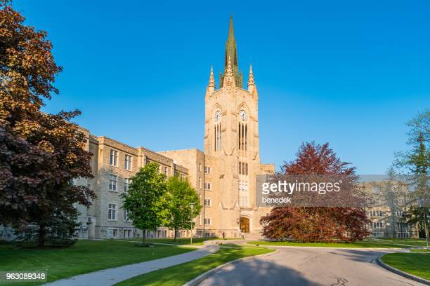 middlesex college at western university in london ontario canada - london ontario stock photos and pictures