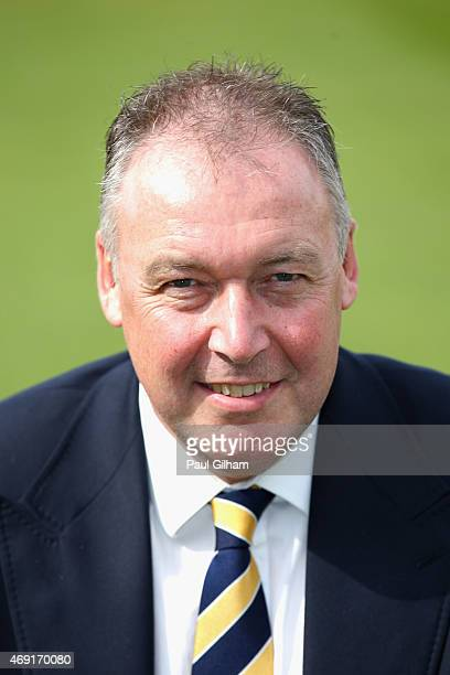 Middlesex County Cricket Club's managing director of Cricket Angus Fraser poses during a photcall at Lord's Cricket Ground on April 10 2015 in London...