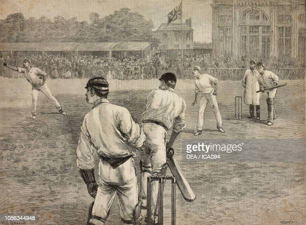 Middlesex vs Notts cricket match at Lord's United Kingdom engraving from The Illustrated London News No 2776 July 2 1892