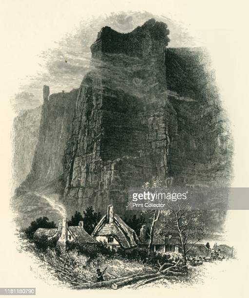 Middleton Dale' circa 1870 Limestone cliffs in Middleton Dale Derbyshire Peak District From Picturesque Europe The British Isles Vol I [Cassell...