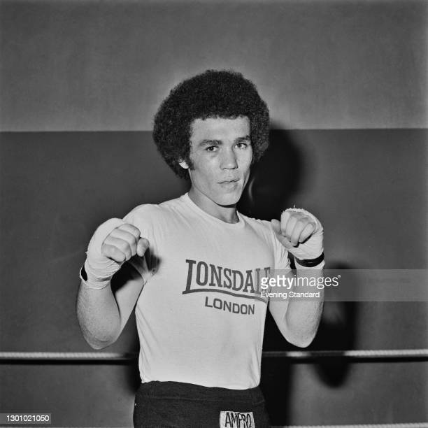 Middleweight boxer Frankie Lucas, UK, 29th May 1973.