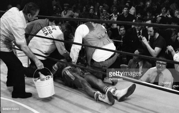 Middleweight boxer Willie Classen is knocked out during fight at Madison Square Garden 11/23. Classen did not regain consciousness and died 11/28...