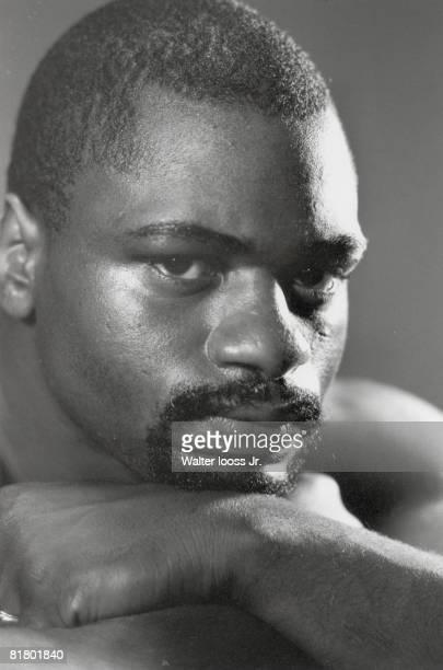 Middleweight Boxing Closeup portrait of Rubin Hurricane Carter Saddlebrook NJ 8/5/1963