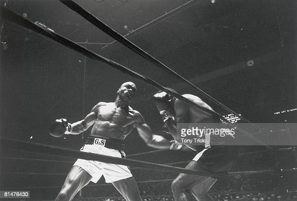 Middleweight Boxing Rubin Hurricane Carter in action vs Luis Manuel Rodriguez at Madison Square Garden New York NY 2/12/1965