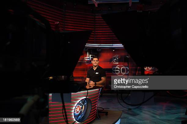 UFC middleweight champion Chris Weidman was interviewed at ESPN Headquarters on September 26 in Bristol Connecticut by David Lloyd of Sportscenter...