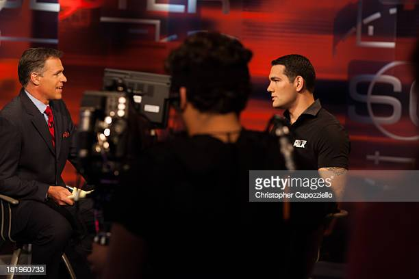 Middleweight champion Chris Weidman, was interviewed at ESPN Headquarters on September 26 in Bristol, Connecticut by Sportscenter anchor Jay...