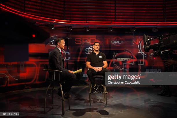 UFC middleweight champion Chris Weidman was interviewed at ESPN Headquarters on September 26 in Bristol Connecticut by Sportscenter anchor Jay...