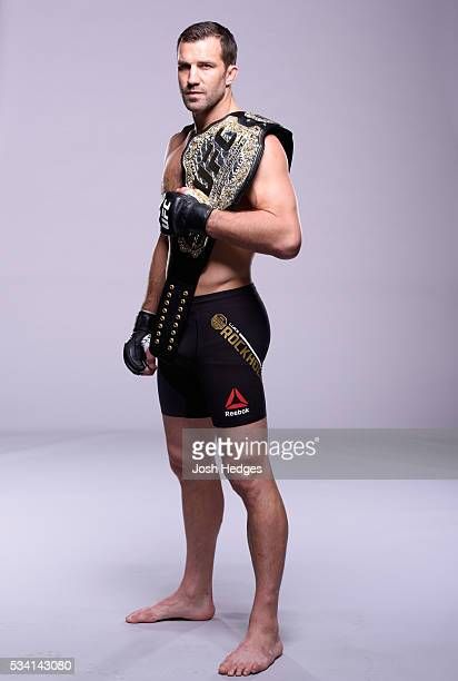 UFC middleweight champion Luke Rockhold poses for a portrait during the UFC Unstoppable photo shoot on March 3 2016 in Las Vegas Nevada