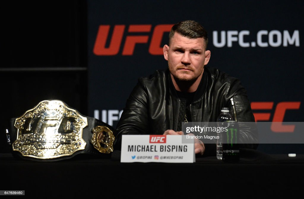 UFC: Bisping v St-Pierre Press Conference : News Photo