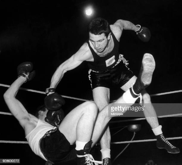 ABA middleweight champion Willie Stack of Leamington Boys Club during a fight Circa 1964