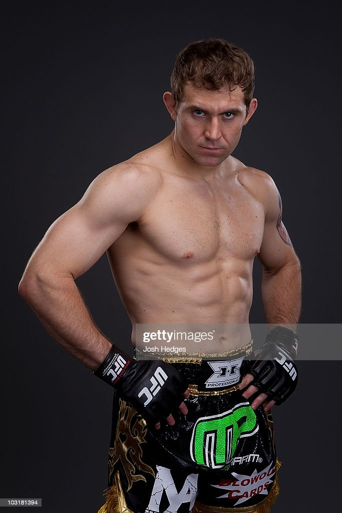UFC Middleweight Fighter Alan Belcher poses during a portrait shoot on May 6, 2010 in Montreal, Quebec, Canada.